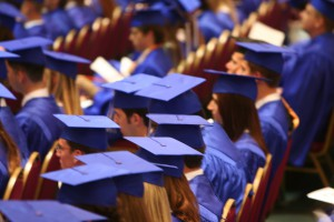 students waiting to graduate
